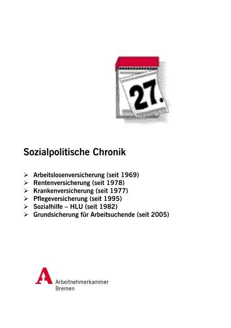Sozialpolitische Chronik - bei der Arbeitnehmerkammer Bremen