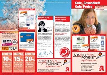 Gute Gesundheit Gute Preise - Servatius Apotheke