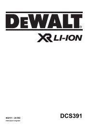 DCS391 - Service - DeWalt