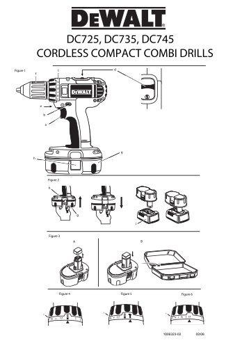 DC725, DC735, DC745 CORDLESS COMPACT COMBI ... - Service