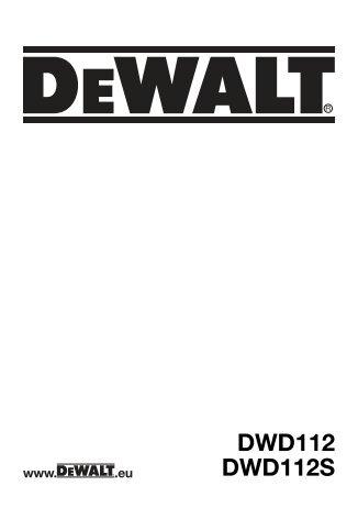 Notice d'utilisation - Service après vente - Dewalt