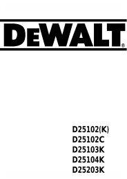 d25203k - Service - DeWALT