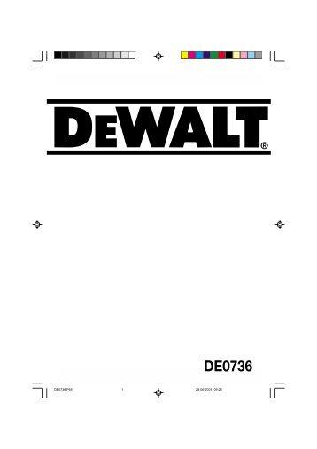 DE0736 - Dewalt