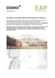 Architektin Luise Kister (RWTH Aachen) gewinnt 19. EAP-Preis