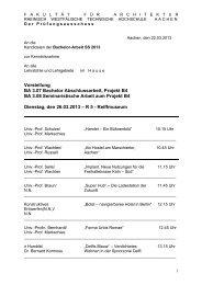 Vorstellung Bachelorthemen SS 2013 - RWTH Aachen