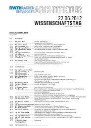 ARCHITEKTUR - RWTH Aachen