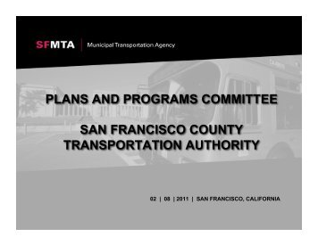 plans and programs committee san francisco county transportation ...
