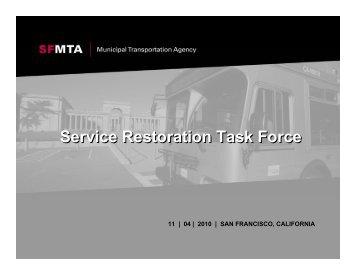 Service Restoration Task Force - Streetsblog San Francisco