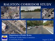 Ralston Corridor Study Presentation