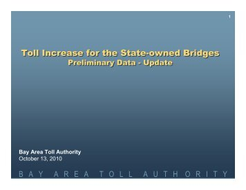 Toll Increase for the State-owned Bridges Toll Increase for the State ...