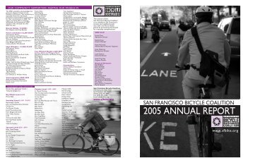 2005 ANNUAL REPORT - San Francisco Bicycle Coalition