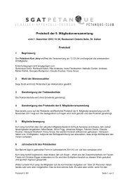Protokoll Mitgliederversammlung 2012 - sgatpetanque.ch