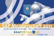 SAP Meisterschaft 2011 - sgatpetanque.ch