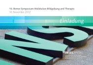 10. Berner Symposium Molekulare Bildgebung und Therapie