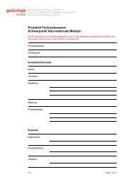 Protokoll Facharztexamen Schwerpunkt feto-maternale ... - SGGG