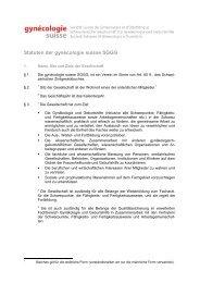 Statuten der gynécologie suisse SGGG