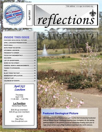 April 2013 - The Southeastern Geophysical Society