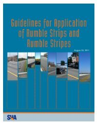 Guidelines for Application of Rumble Strips and Rumble Stripes