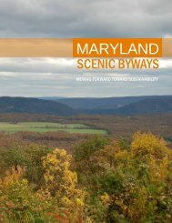 Moving Forward Toward Sustainability - Maryland State Highway ...