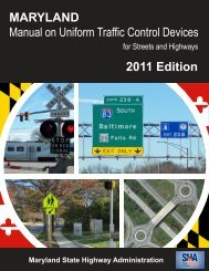 MDMUTCD 2011 Edition - Maryland State Highway Administration ...
