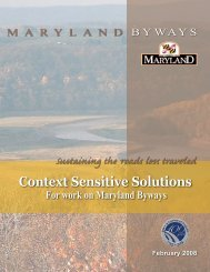 CSS revised 111607.indd - Maryland State Highway Administration