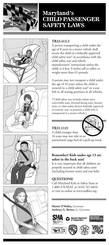 Maryland State Laws For Car Seats
