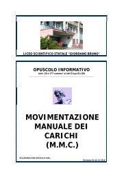 movimentazione manuale dei carichi - Liceo Scientifico Giordano ...