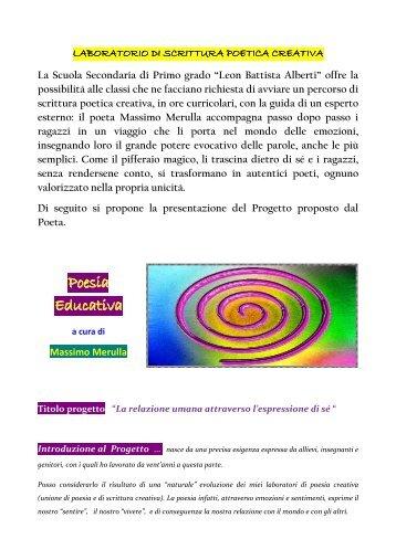 Poesia Educativa - Progetto ICT2 - Siti web cooperativi per le scuole
