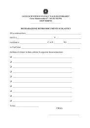 Dichiarazione ritiro documenti