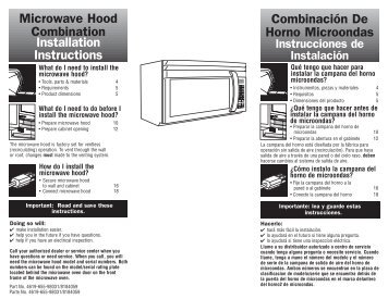 Installation Instructions Microwave Hood ... - How2Install.It