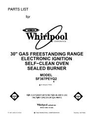 Self-Cleaning Electric Ranges - Whirlpool Corporation on