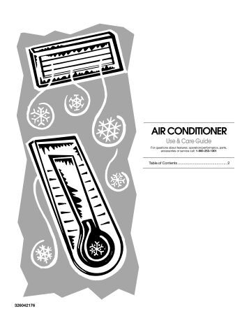 Forest Air Conditioner Model 13-04625 Instruction