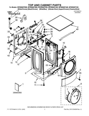 Top And Cabinet Parts