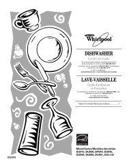 DISHWASHER LAVE-VAISSELLE - Whirlpool Corporation