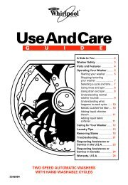Use And Care - Whirlpool Corporation
