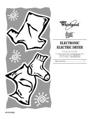 ELECTRONIC ELECTRIC DRYER - Whirlpool Shopping Cart ...