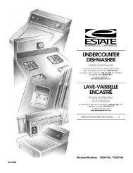 undercounter dishwasher - Whirlpool Corporation
