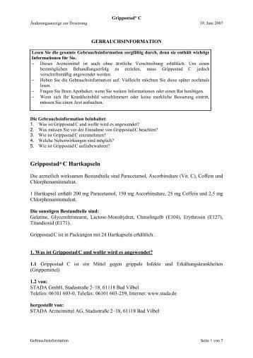 Grippostad® C Hartkapseln