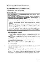 Wortlaut der für die Packungsbeilage vorgesehenen Angaben