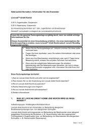 Information für den Anwender LivocabTM direkt Kombi 1. WAS IST ...