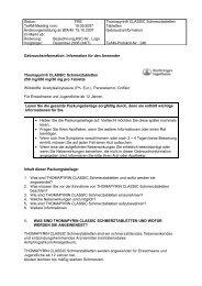 GEBRAUCHSINFORMATION: Thomapyrin® Schmerztabletten
