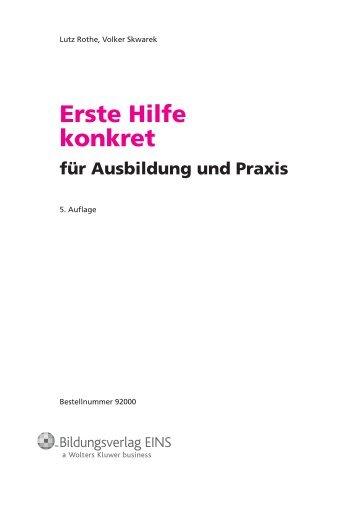 Erste Hilfe konkret - Bildungsverlag EINS