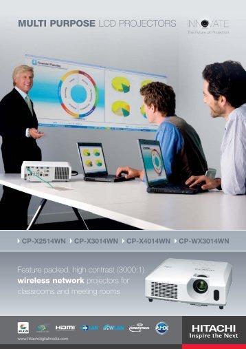MULTI PURPOSE LCD PROJECTORS - Hitachi Digital Media
