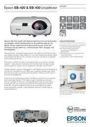 Epson EB-420 & EB-430 projektorer - AVC