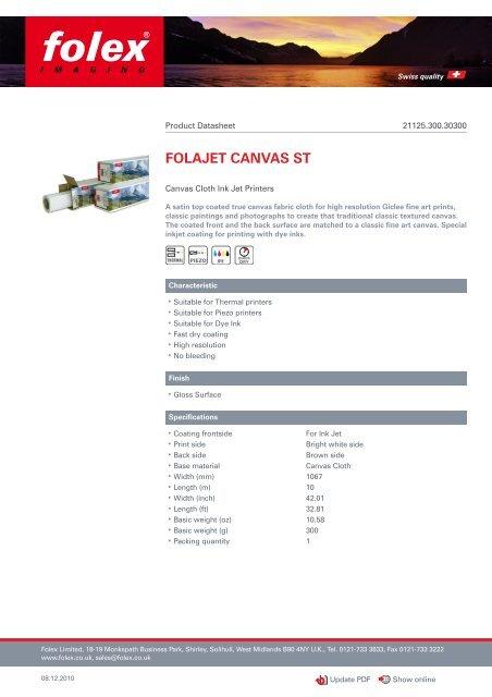 FOLAJET CANVAS ST