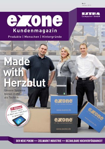 Kundenmagazin Made with Herzblut - EXTRA Computer GmbH
