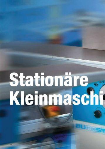 STATIONbRE KLEINMASCHINEN - Keller-Maschinen