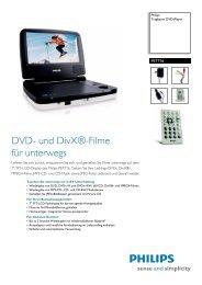 PET716/12 Philips Tragbarer DVD-Player - MediaTrend24