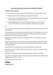 Quick manual til Automatisk dispenser - Mediq Danmark A/S