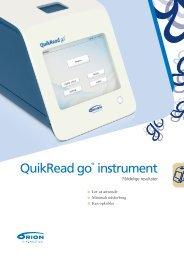 QuikRead go® instrument - Mediq Danmark A/S